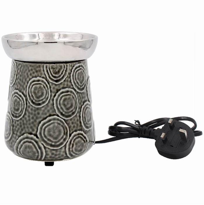 Ceramic Grey Swirl Warmer