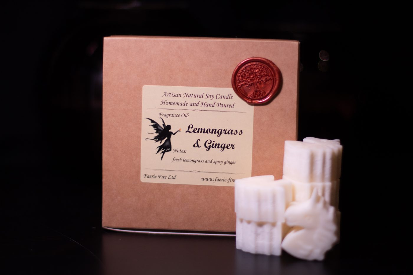 Lemongrass and Ginger Soy Wax Melts scaled