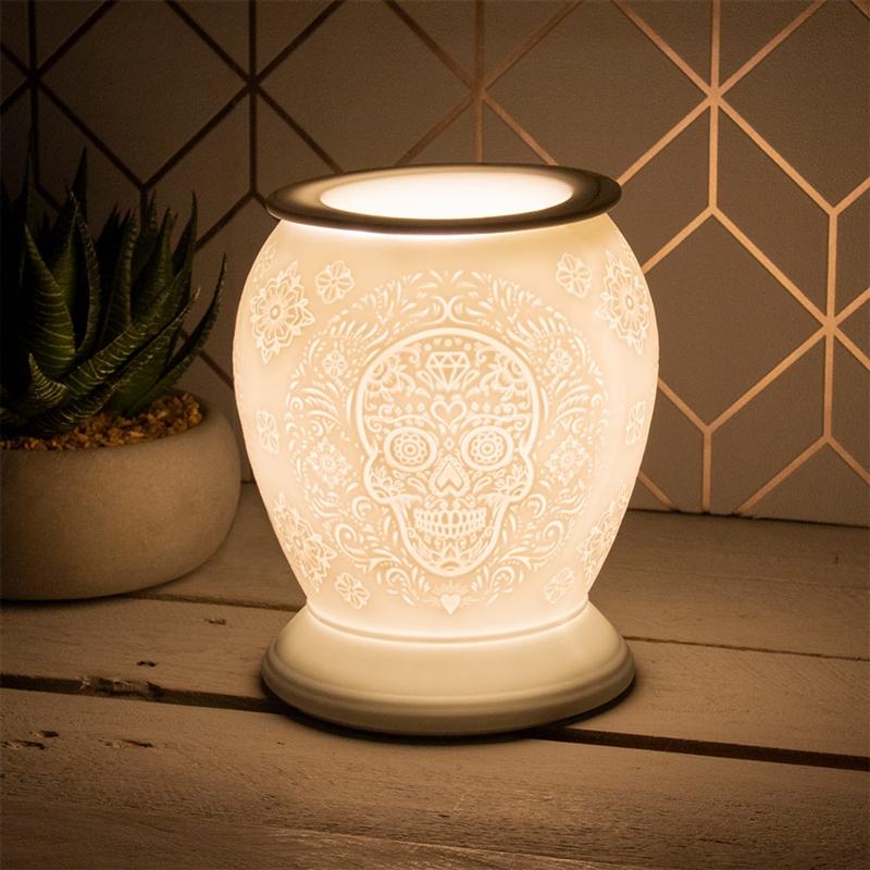 Mxican Skull Wax Aroma Lamp