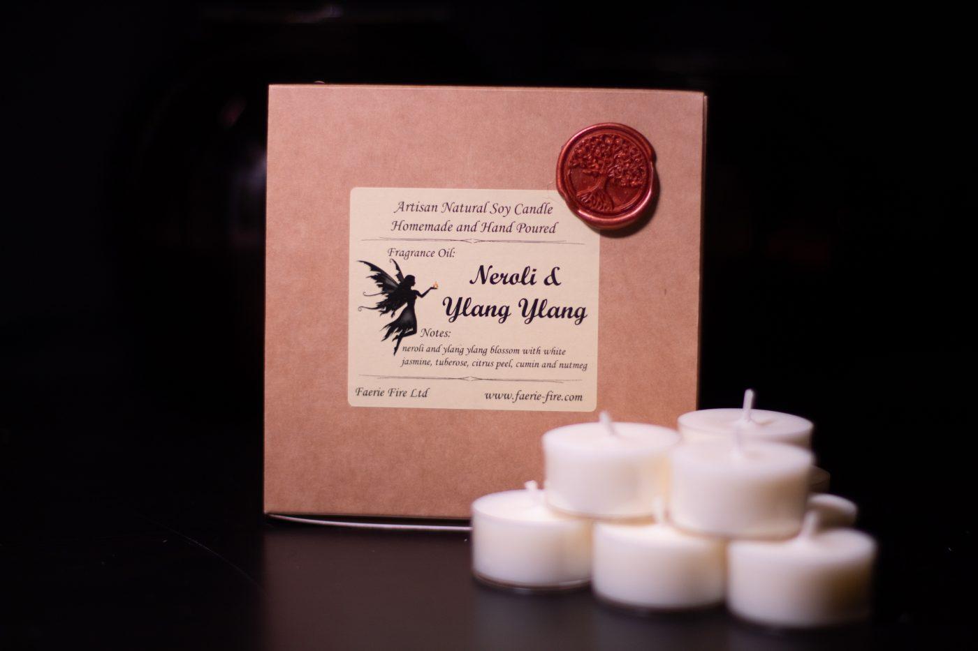 Neroli and Ylang Ylang Soy Wax Tealights scaled