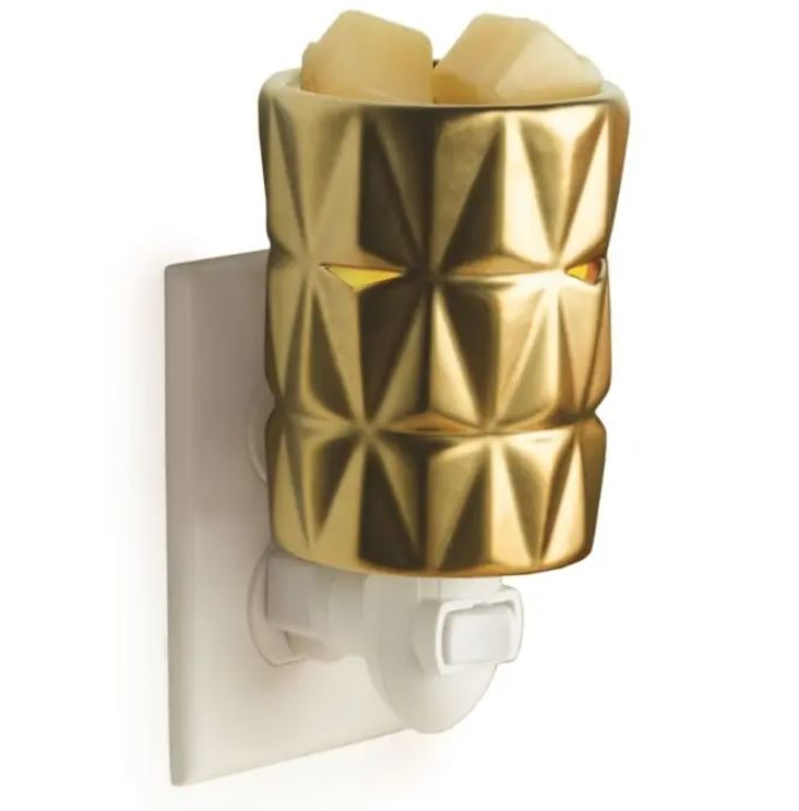 Plug in gold facets wax warmer