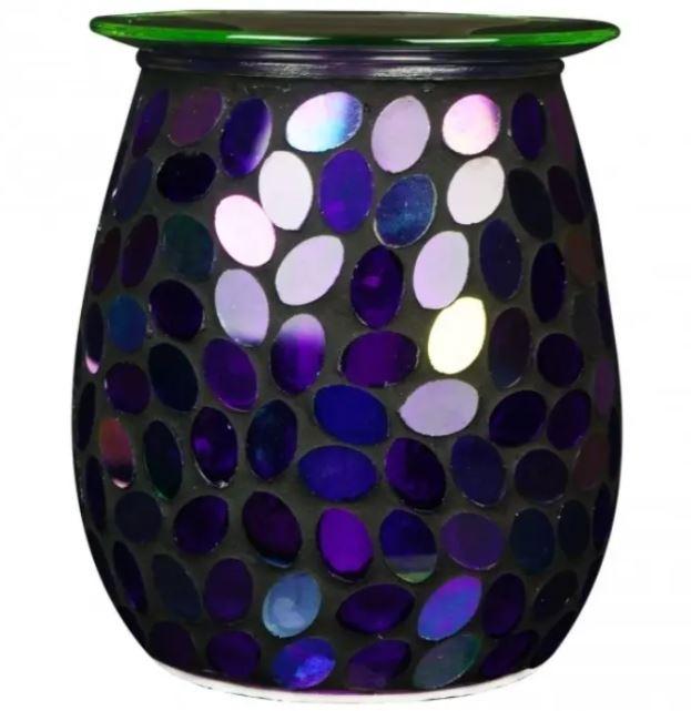 Purple sequin mosaic aroma lamp