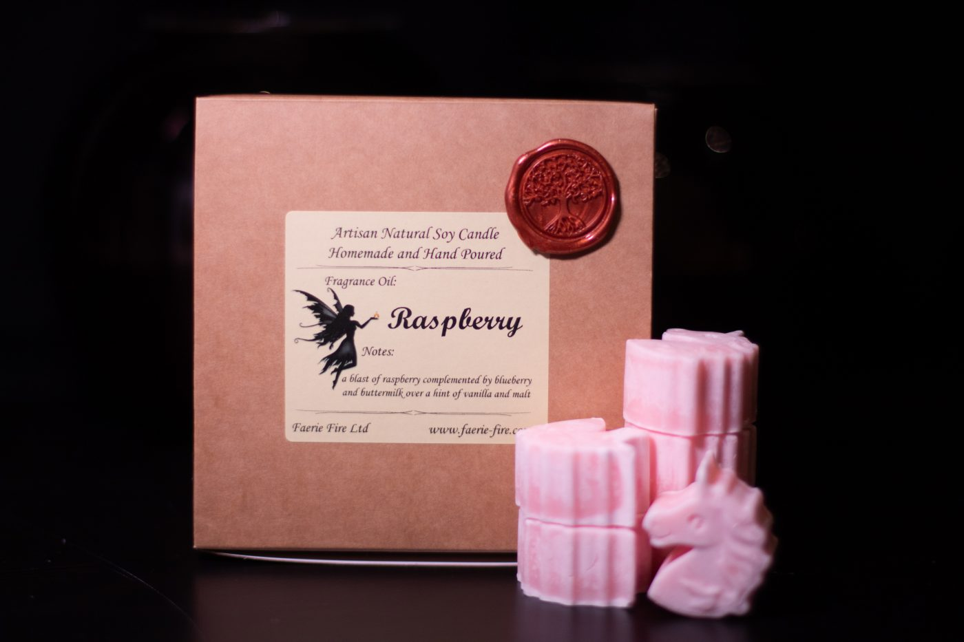 Raspberry Soy Wax Melts scaled