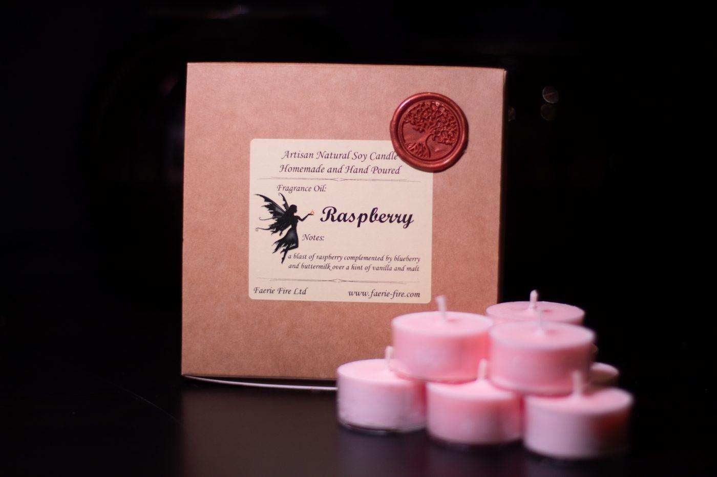 Raspberry Soy Wax Tealights scaled