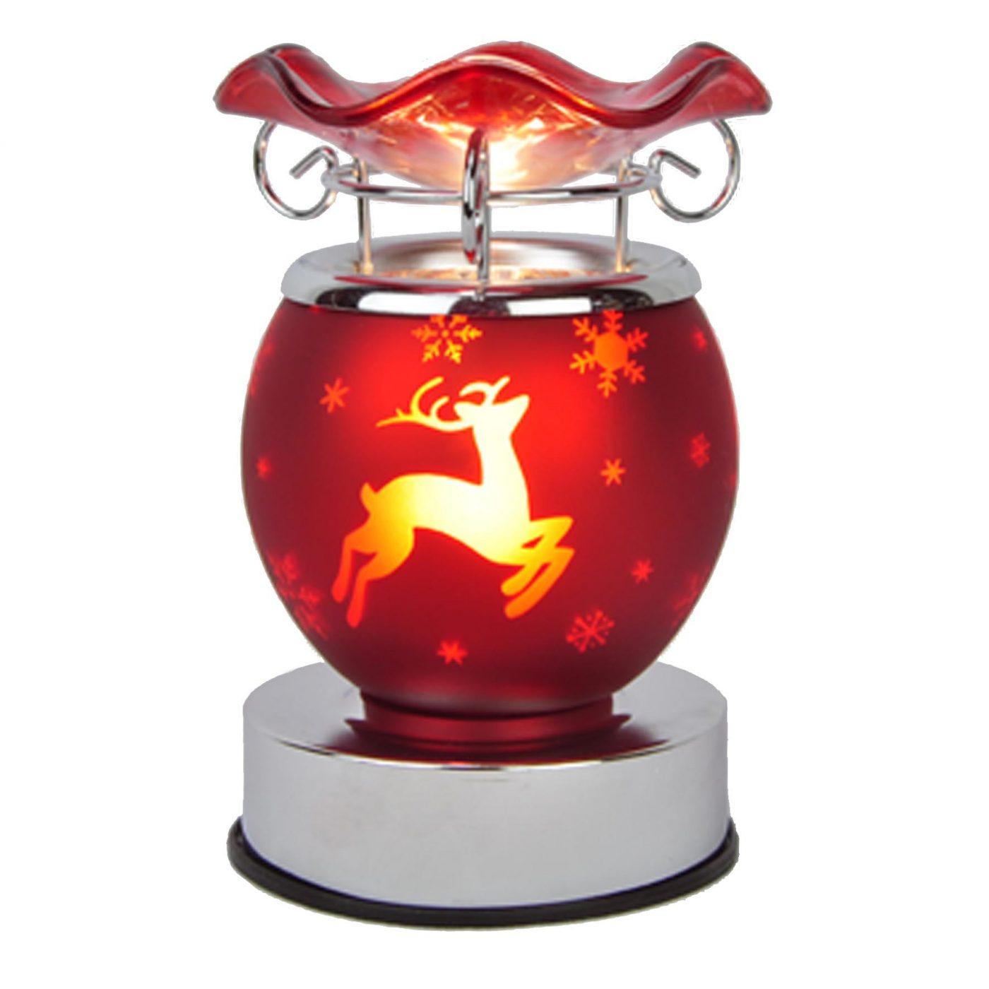 Red reindeer wax warmer aroma lamp