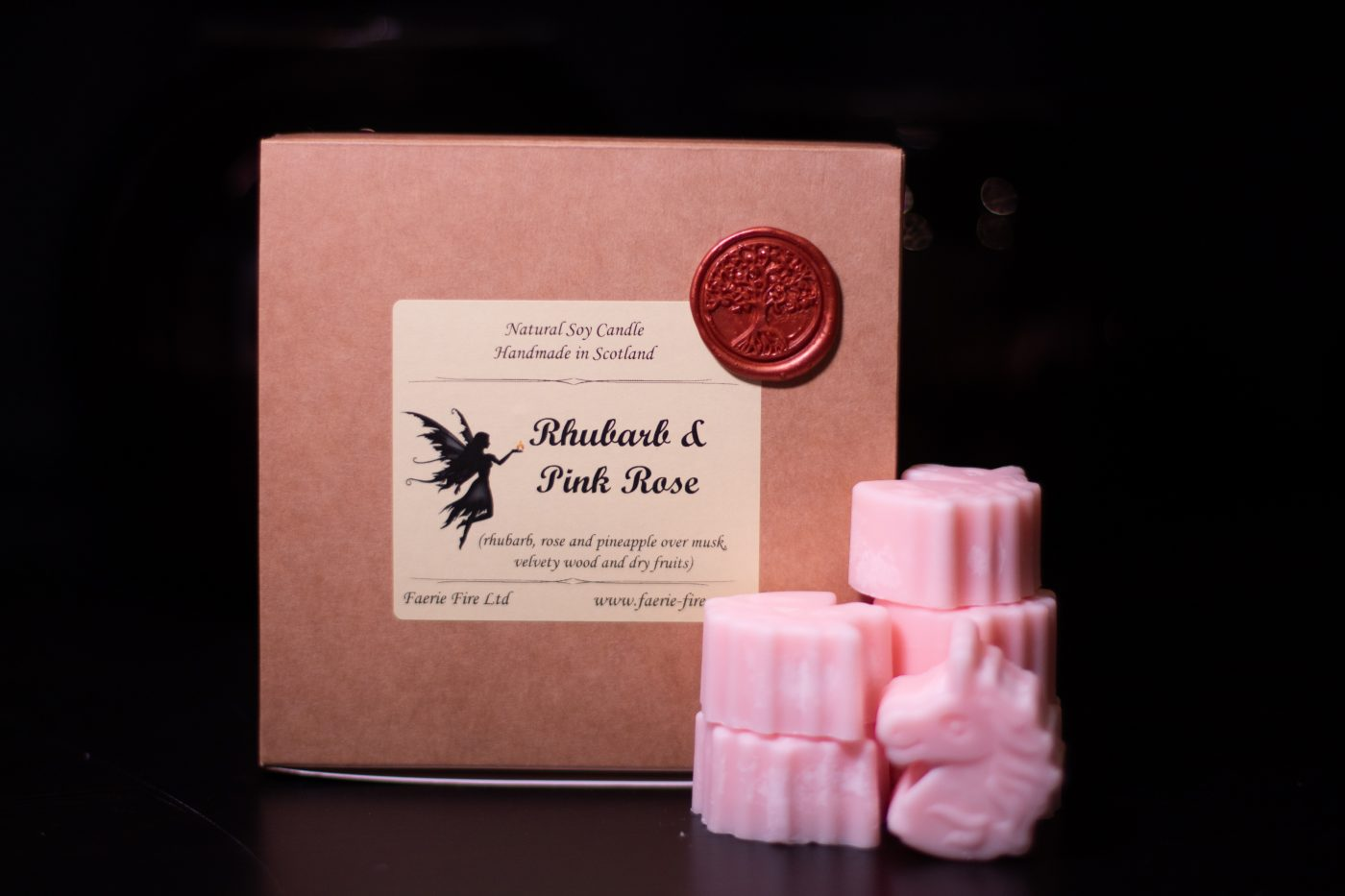 Rhubarb and Pink Rose Soy Wax Melts scaled