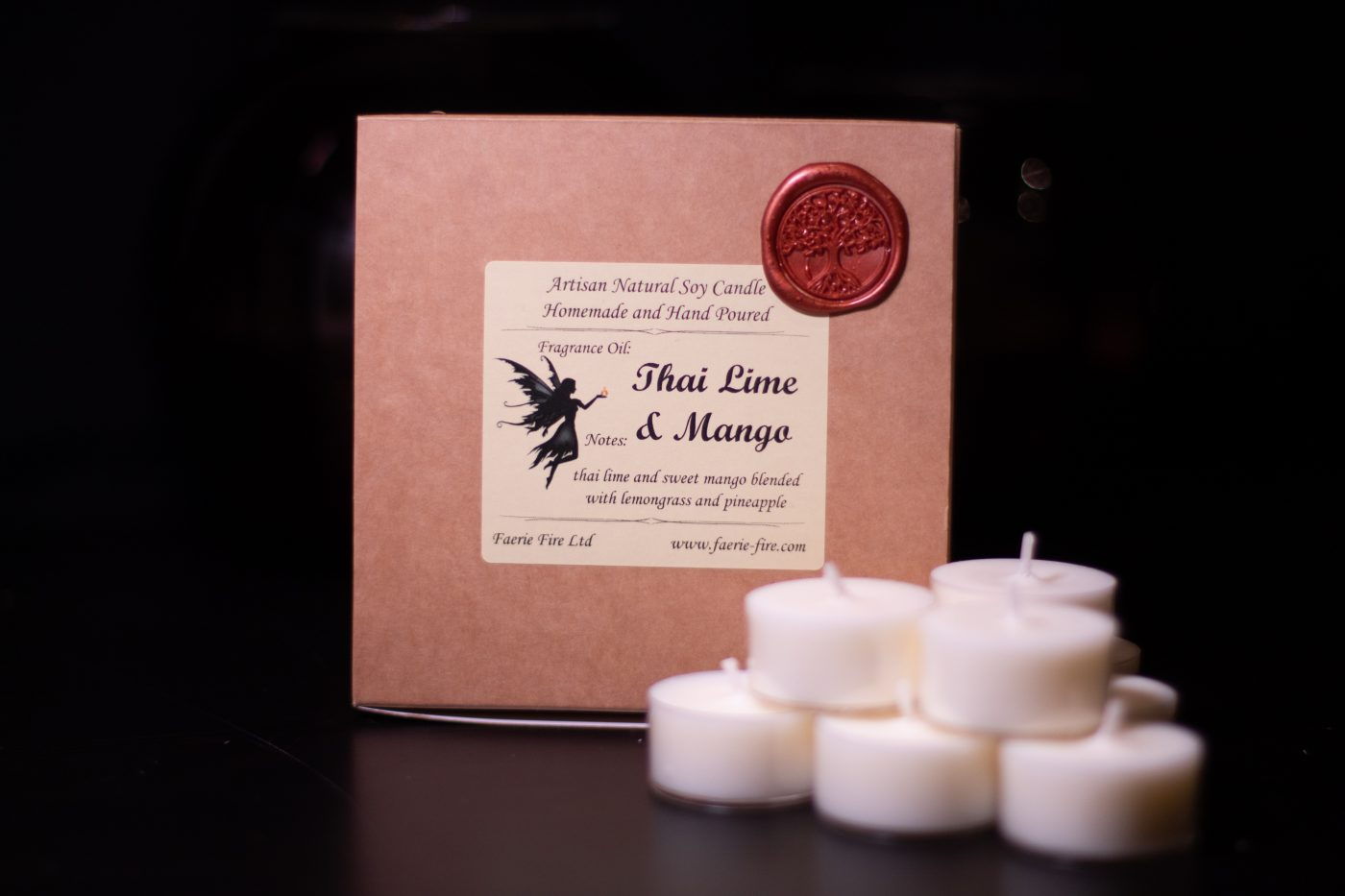Thai Lime and Mango Soy Wax Tealights scaled
