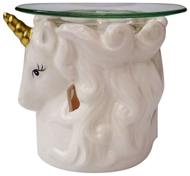 Unicorn head tealight wax warmer burner