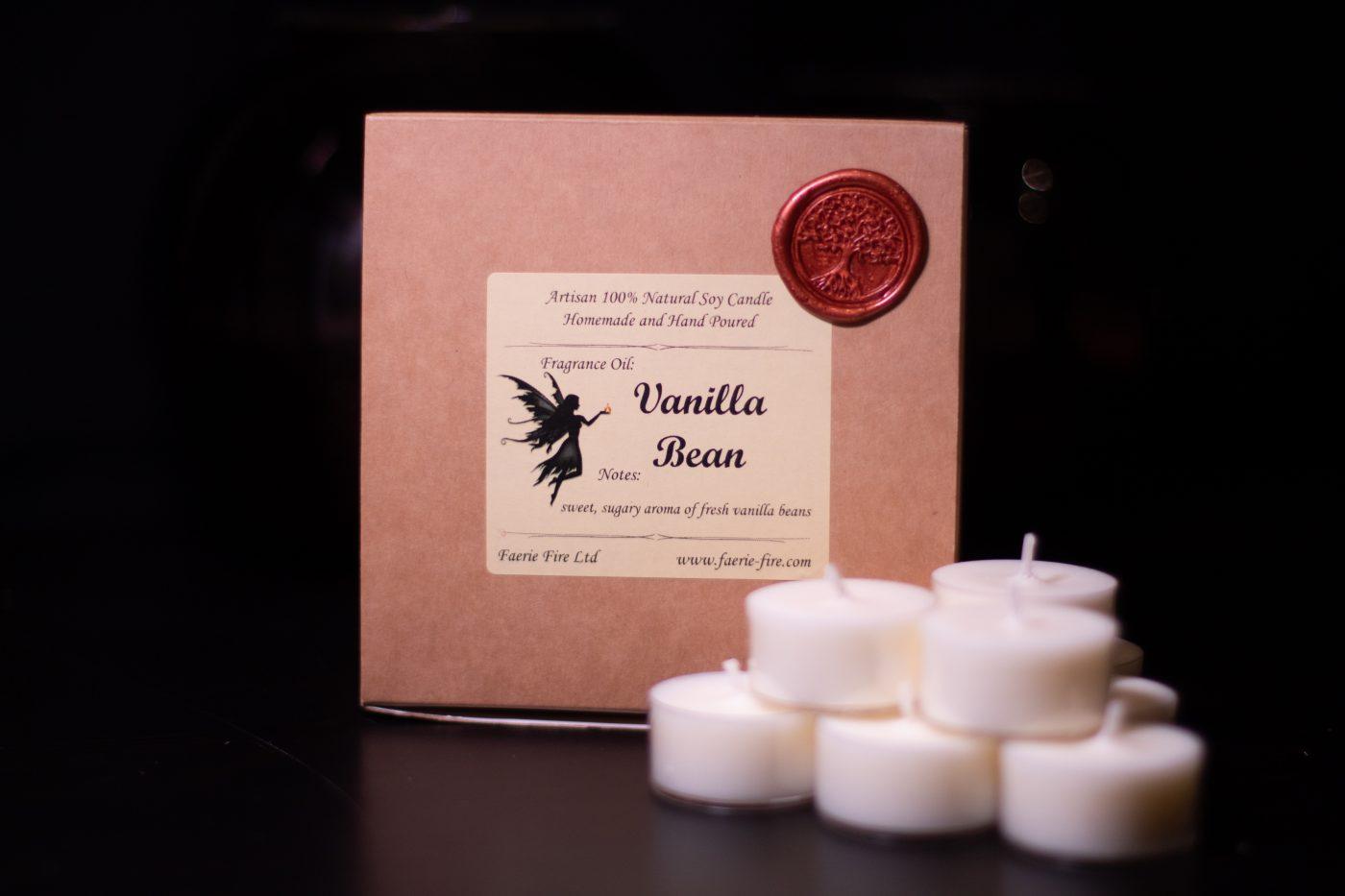 Vanilla Bean Soy Wax Tealights scaled