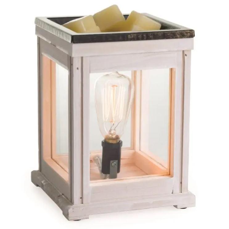 white edison lantern wax warmer