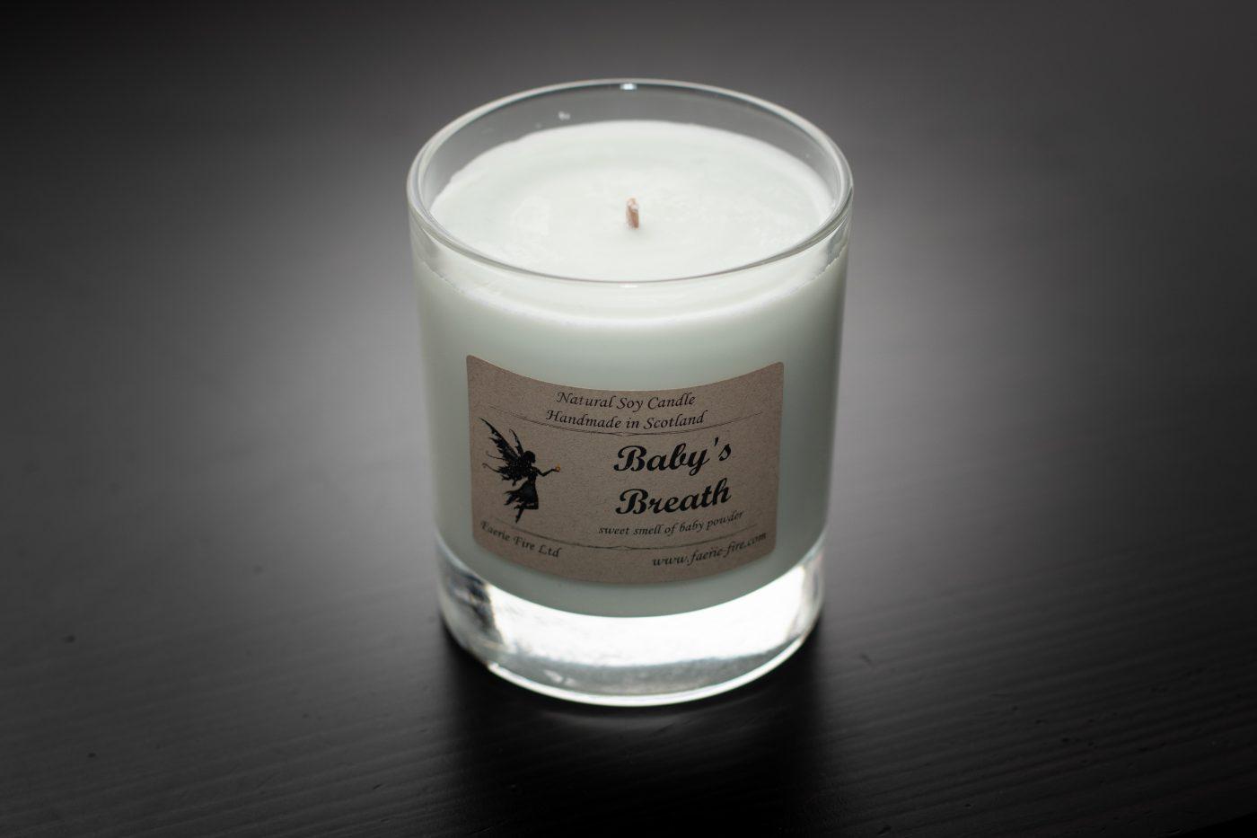 Baby Breath Soy Wax Jar Candle scaled