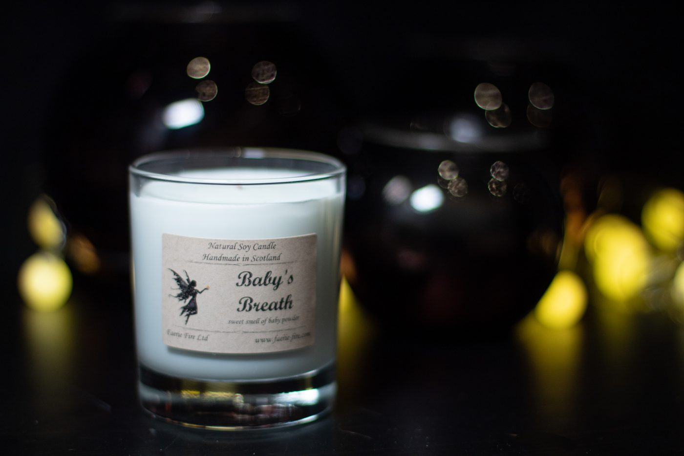 Baby Breath Soy Wax Jar Candle 2 scaled