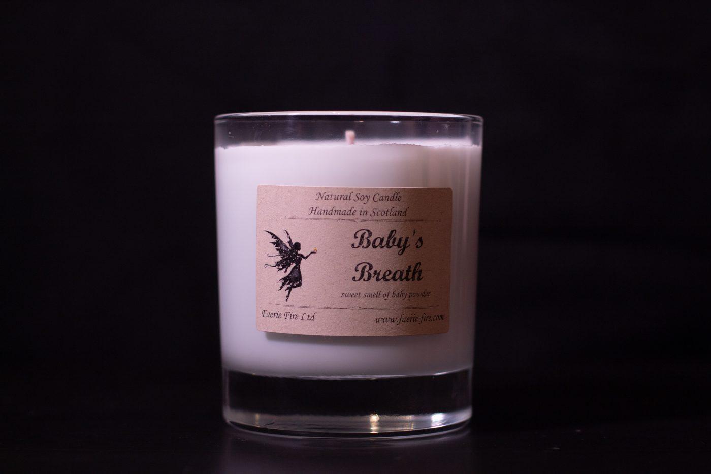 Baby Breath Soy Wax Jar Candle 4 scaled