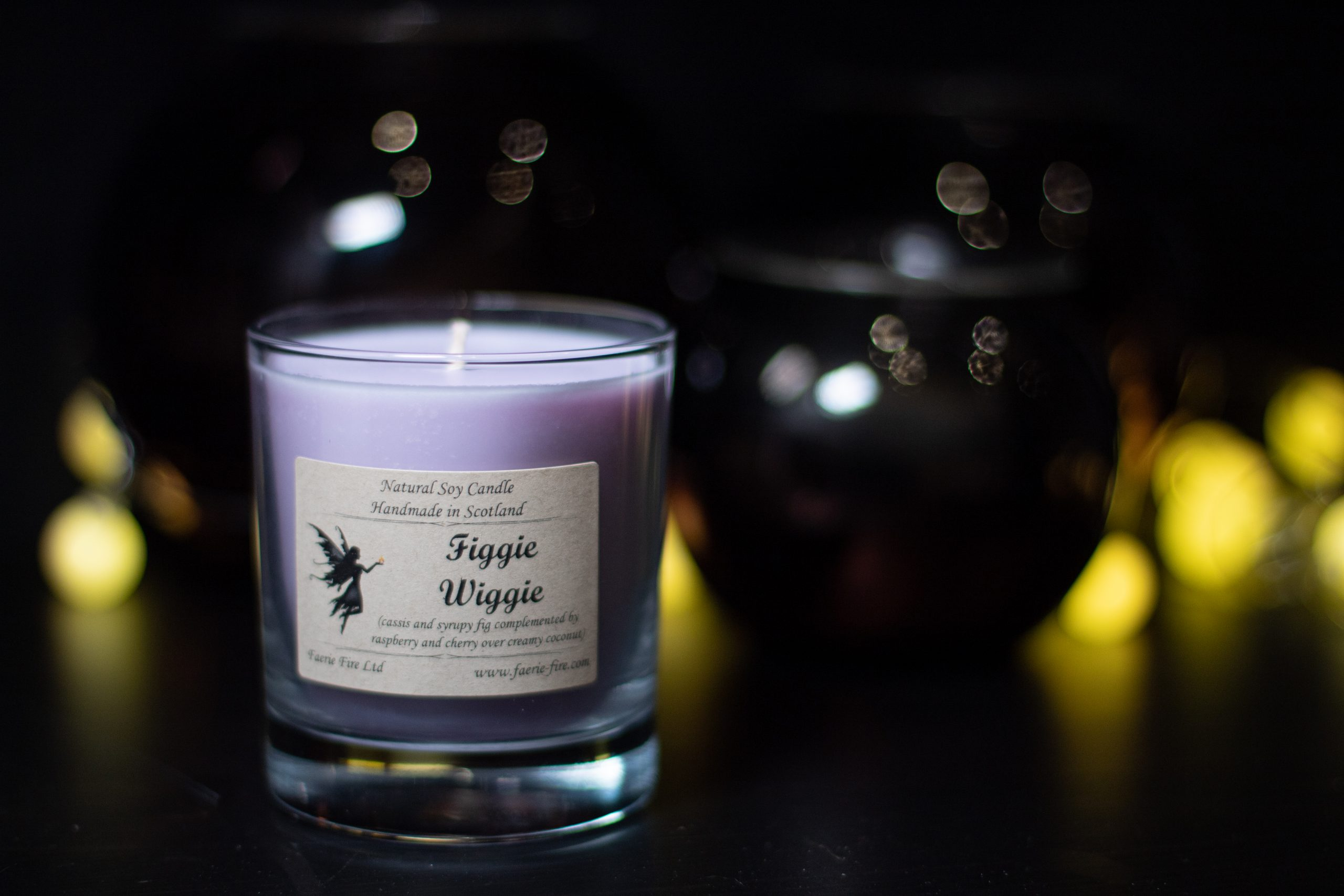 An image of our Figgie Wiggie candle   candle care