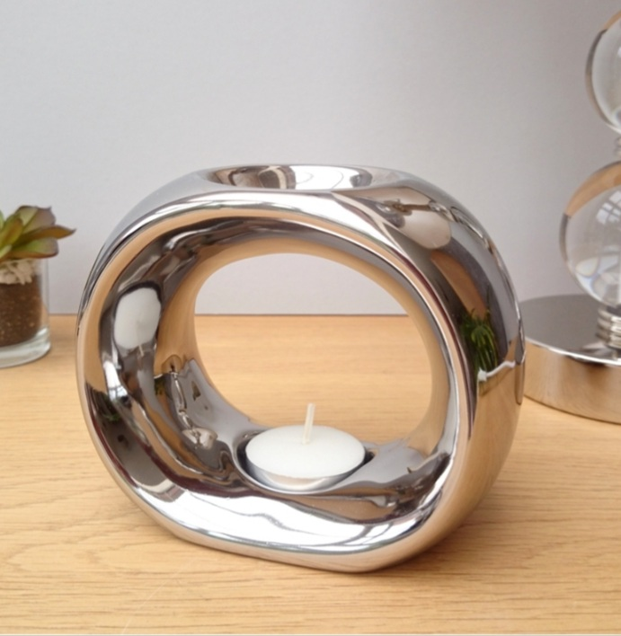 O Ceramic Wax Warmer Silver