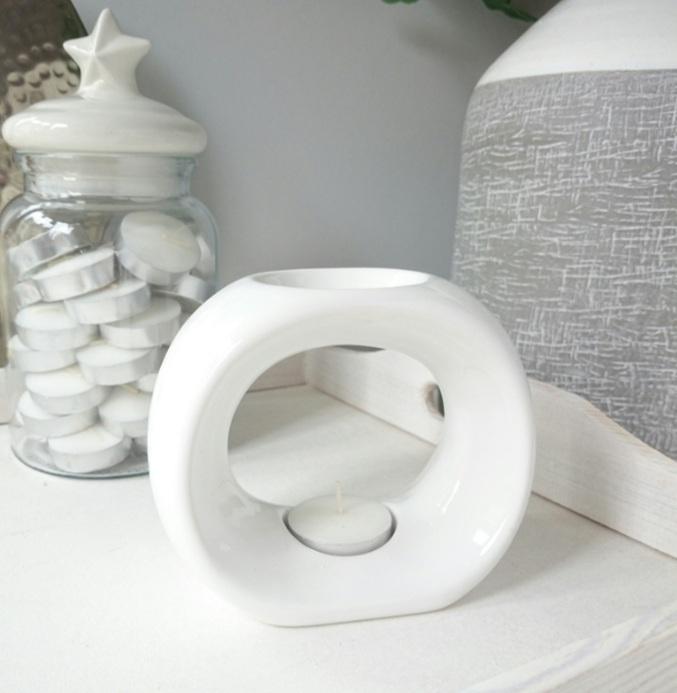 O Ceramic Wax Warmer White
