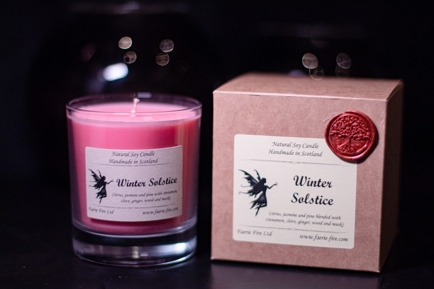 Winter Solstice Soy Wax Jar Candle 3 scaled