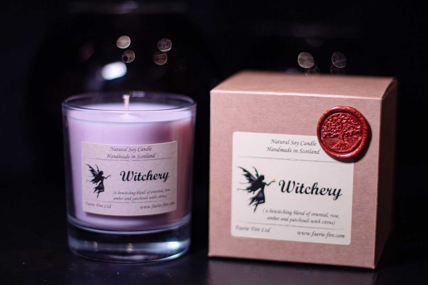 Witchery Soy Wax Jar Candle with box scaled